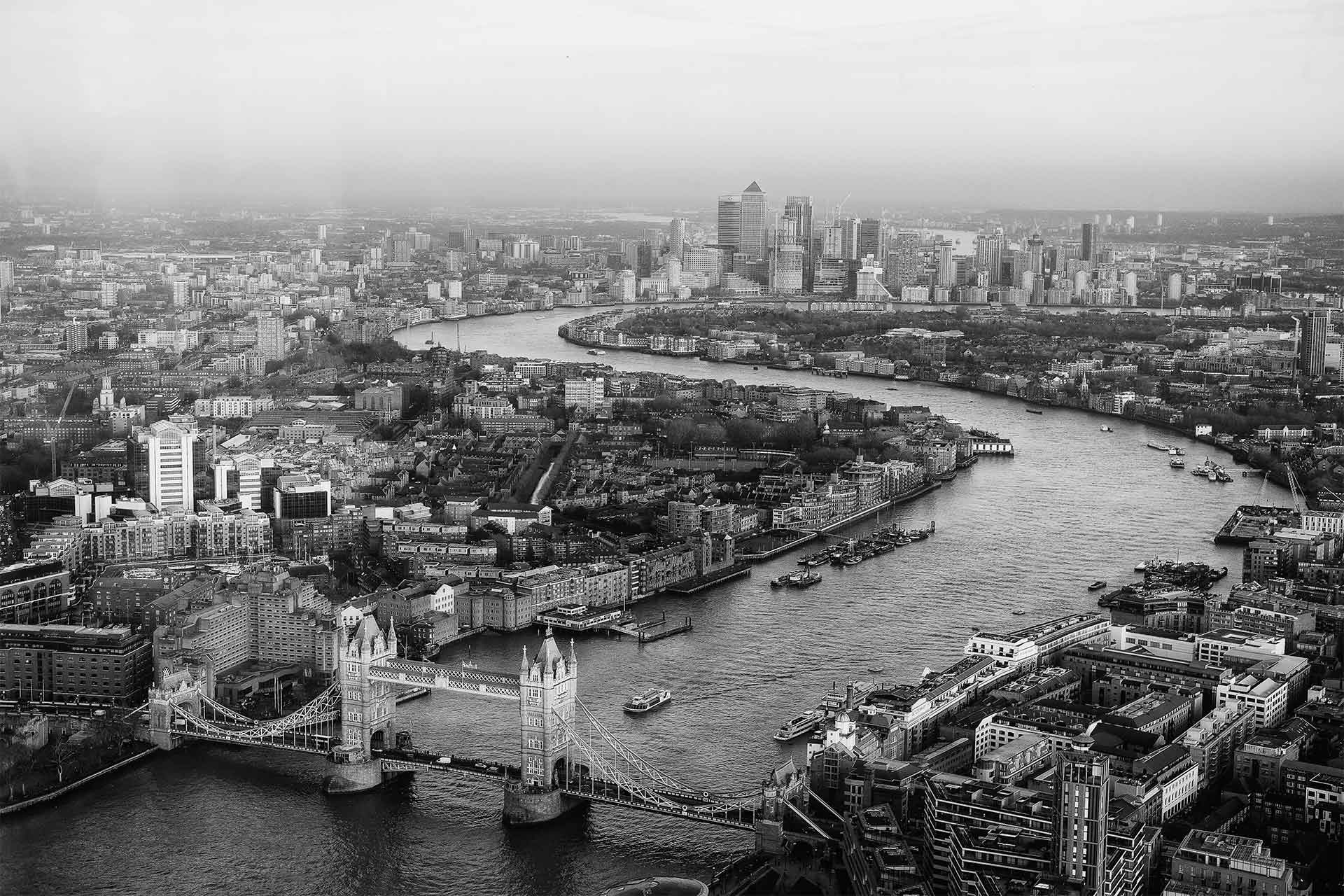 London from aerial view.